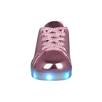 Tenis casuales para niña led and wheels hg17376 rosa